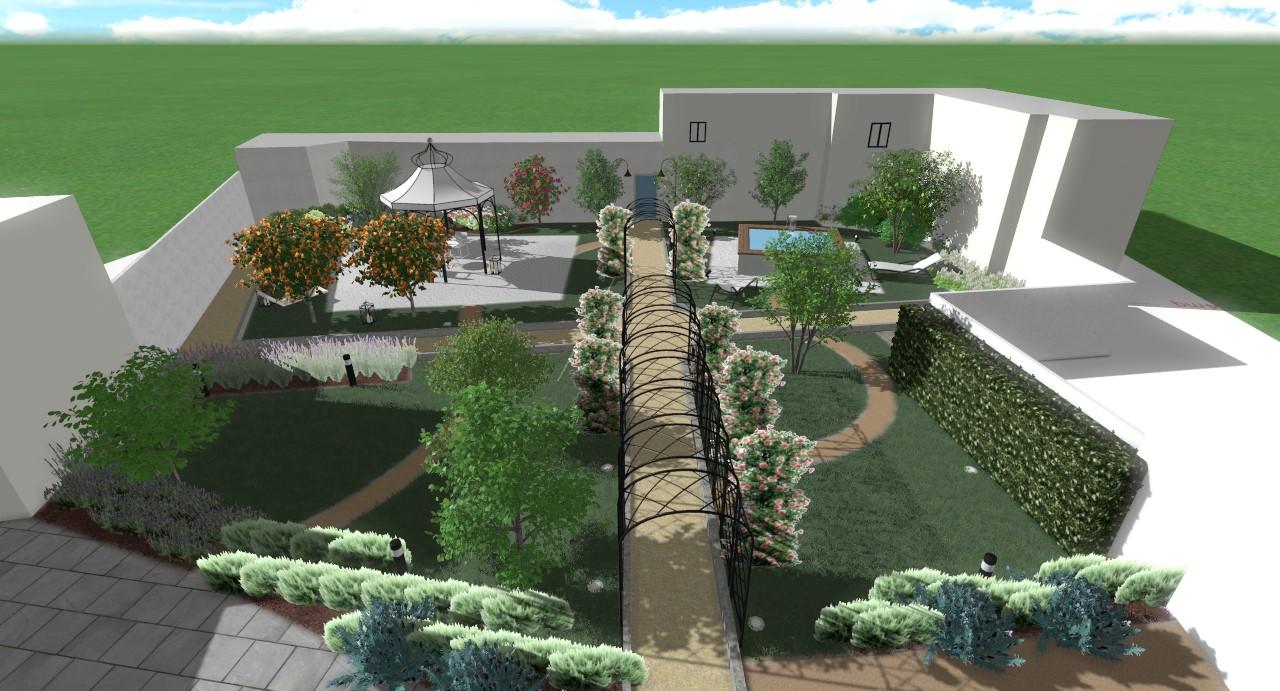 Progettazione giardini e terrazzi milena mastria garden - Scale in giardino ...
